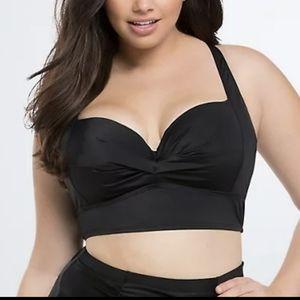 (Torrid) Black Underwire Pushup Bikini Top 2X